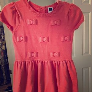 Janie and Jack girl dress 12-18 coral color
